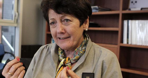 La bioquímica suiza Verena Steiner, experta en estrategias de concentración y en herramientas efectivas para fijar el aprendizaje, durante la entrevista.EFE/Albert Olivé