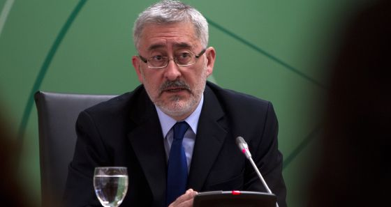 El consejero de Economía, Antonio Ávila, en febrero pasado. / JULIÁN ROJAS. Fuente: El País