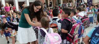 Por primera vez la Conselleria de Educación abre la puerta para que los colegios cambien el horario y reúnan toda la jornada académica por la mañana. DIEGO FOTÓGRAFOS