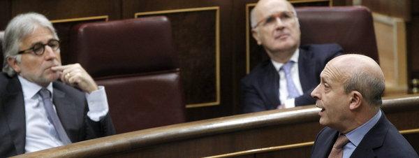 El ministro de Educación, Cultura y Deportes, José Ignacio Wert, en el Congreso. Chema Moya - EFE. Fuente: La Vanguardia